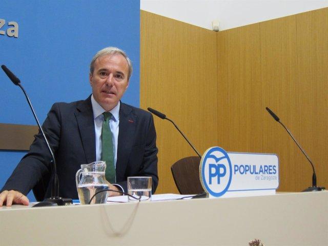 El portavoz municipal del PP, Jorge Azcón