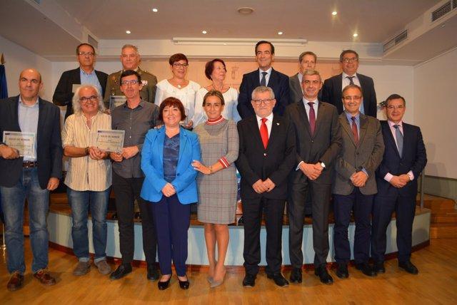 Asistentes al acto institucional por el XX aniversario de la Biblioteca de C-LM