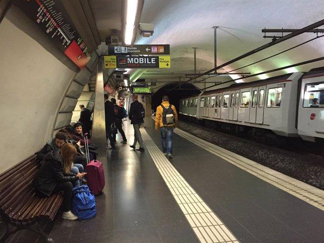 Metro de Barcelona, estación Plaça Espanya (Archivo)