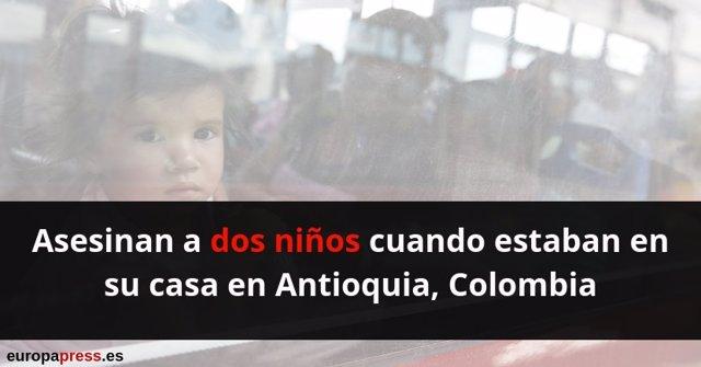 Asesinan a dos niños en Colombia