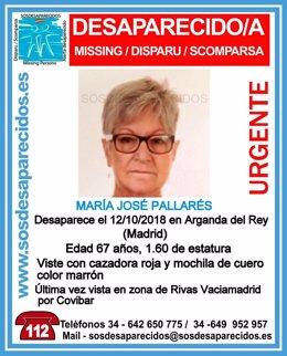 Mujer desaparecida en Arganda