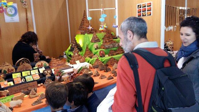 Stand en la Feria de Artesanía de Aracena.