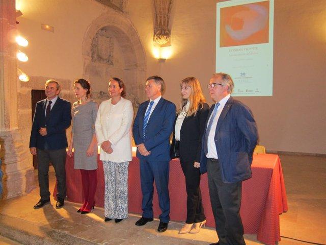 García Cirac, en la inauguracuión de la exposición sobre Esteban Vicente. 17-10