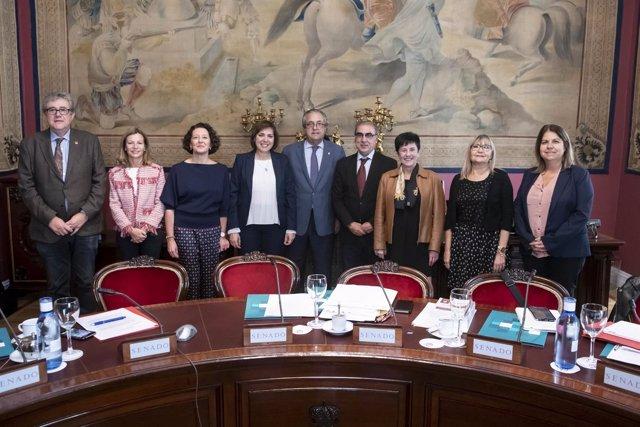 La presidenta de SEOM, Ruth Vera, comparece ante el Senado