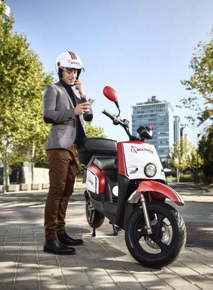 Acciona lanza su servicio de moto compartida en Madrid