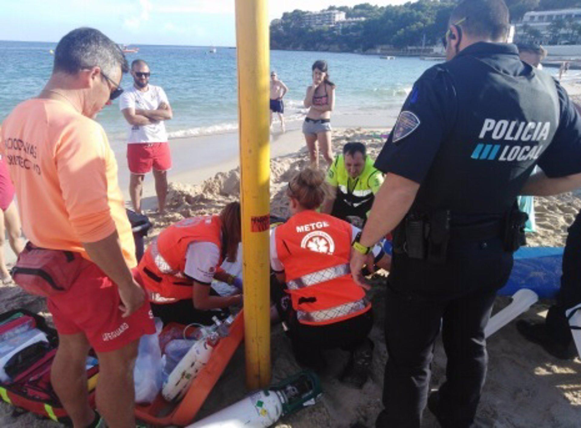 Reaniman a un hombre de 54 años en la playa de Magaluf