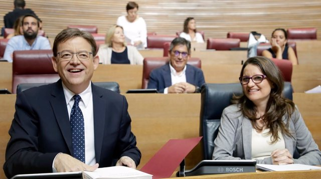 Ximo Puig y Mónica Oltra, en imagen de archivo