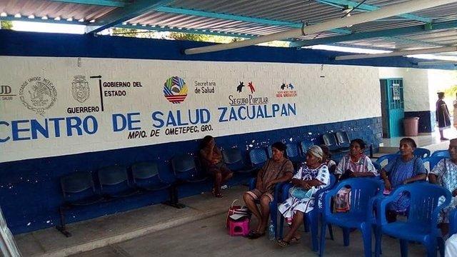 Centro de salud en Zacualpan, México