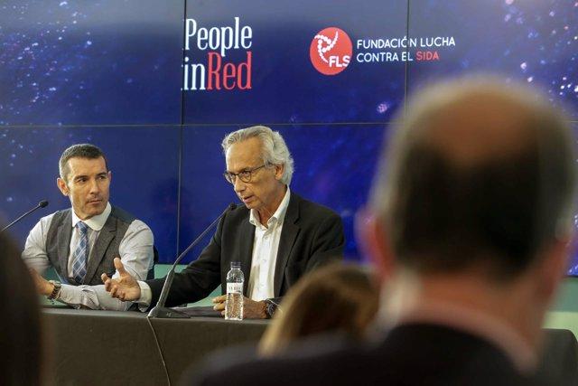 Jesús Vázquez y Bonaventura Clotet presentan Gala People in Red contra el Sida