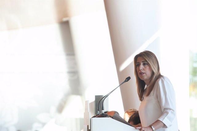la presidenta de la Junta de Andalucía, Susana Díaz, participa en los desayunos
