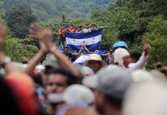 Caravana de migrantes centroamericanos rumbo a EEUU