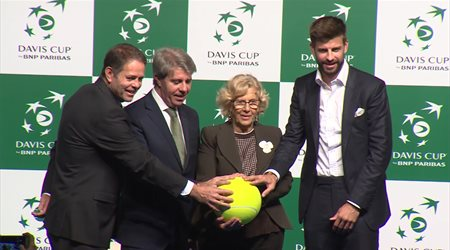 """Madrid celebra """"el sueño de Piqué"""" de la nueva Davis"""