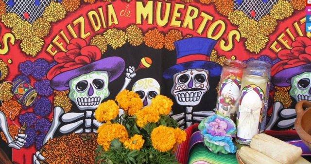 Festividad de Día de Muertos en México