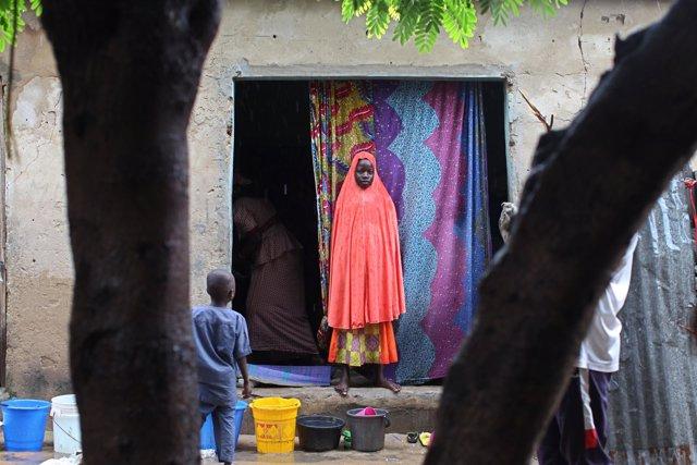 Niña desplazada en Nigeria