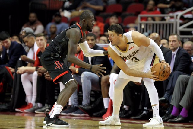 Nikola Mirotic en el New Orleans Pelicans - Houston Rockets