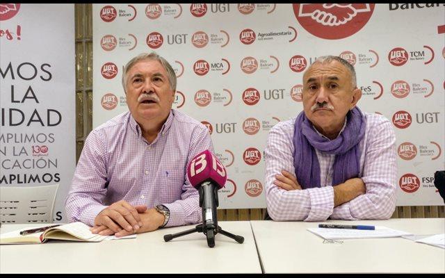 UGT pedirá a Sánchez que no 'escatime en medios' para 'reactivar la vida de las personas' tras la tragedia del Llevant