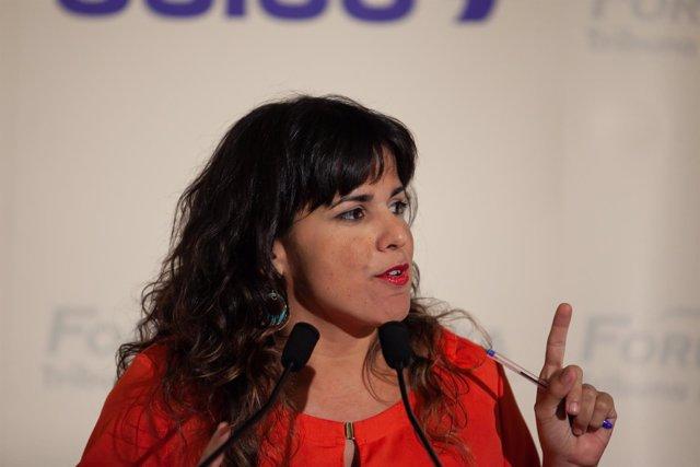 la candidata de Adelante Andalucía a la Presidencia de la Junta y coordinadora
