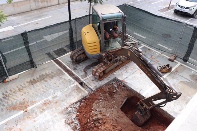 Obras en parking de Can Misses