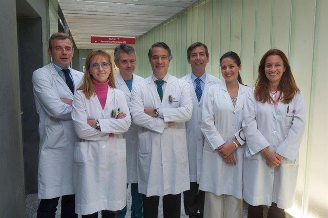 Equipo del área de Patología Mamaria de la CUN.