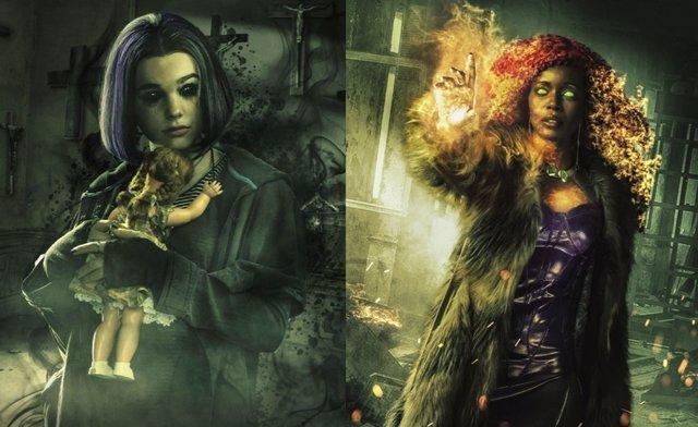 Starfire y Raven en Titans
