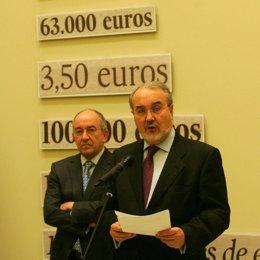 Solbes y Fernández Ordóñez presenta una exposición en el Banco de España