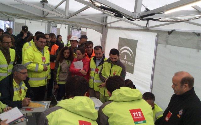 La Junta y la empresa Brenntag Química realizan un simulacro para probar la efectividad de los planes de emergencia