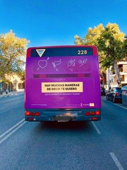 Campaña para promover la donación de órganos en autobuses de Tussam