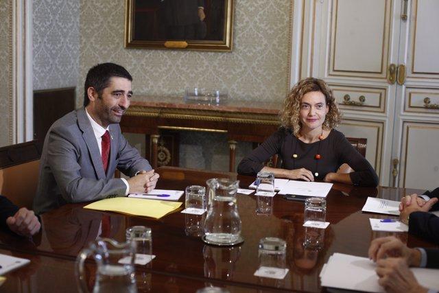 Meritxell Batet es reuneix amb Jordi Puigneró, conseller de Polítiques Digitals