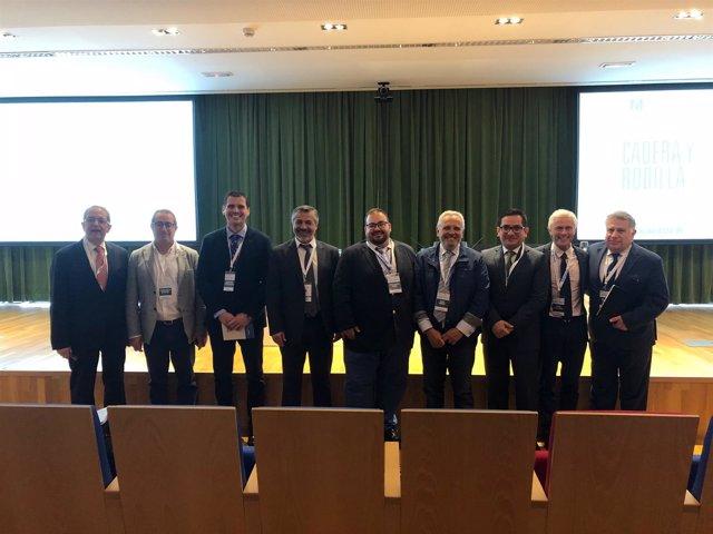 Participantes en el congreso sobre artroplastia de cadera y rodilla