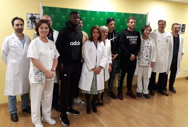Los niños del Valme reciben la visita del Sevilla Fútbol Club