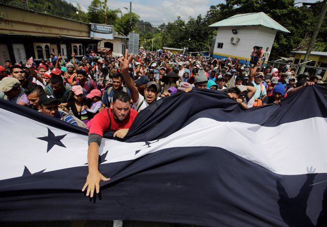 Caravana de migrantes procedentes de Honduras