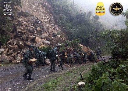 Al menos seis muertos por un corrimiento de tierra en el sur de México