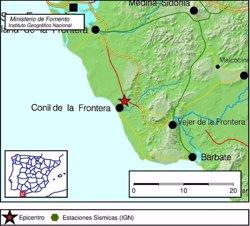 REGISTRADO UN TERREMOTO DE MAGNITUD 4 EN CONIL DE LA FRONTERA (CADIZ)