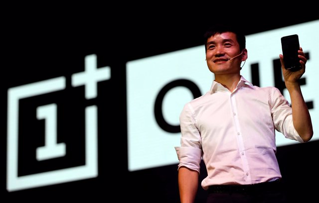 Pete Lau, founder and CEO of China's mobile company OnePlus, attends the launch