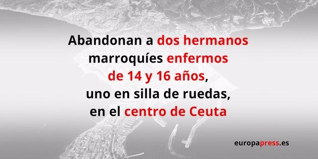 Abandonan a dos hermanos en el centro de Ceuta