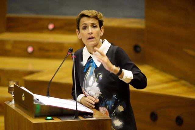 María Chivite, secretaria general del PSN y portavoz parlamentaria.