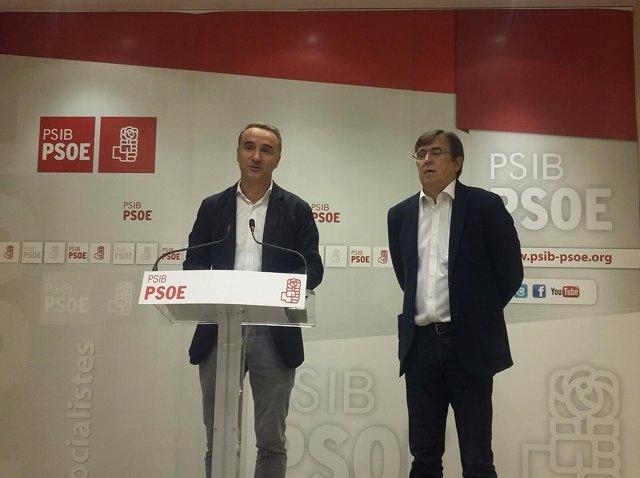 Pere Joan Pons y Xisco Antich del PSIB