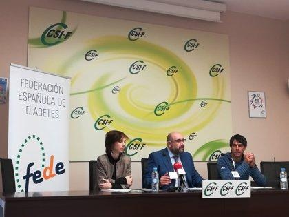 Seis millones de diabéticos españoles no pueden ser policías ni bomberos