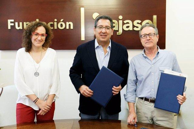 Nuria López, Antonio Públido y Francisco Alfonsín.