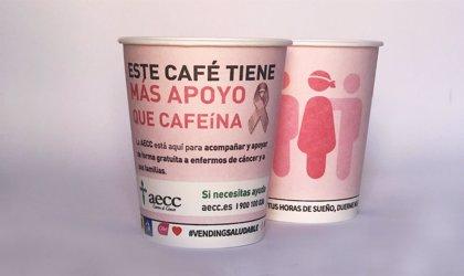 Alliance Vending expenderá con la AECC un millón de cafés con mensajes contra el cáncer de mama