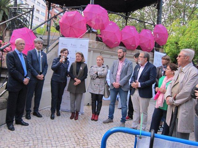 Acto en Cáceres del Día Mundial contra el Cáncer de Mama
