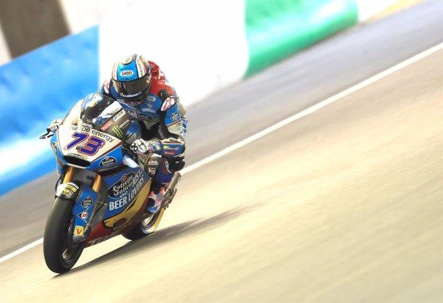 El piloto de Moto2 Àlex Márquez (EG 0,0 Marc VDS) en el GP Japón 2018