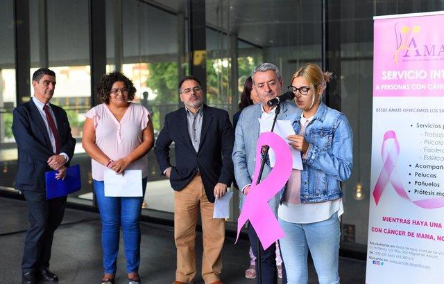 Acto del día del cáncer de mama