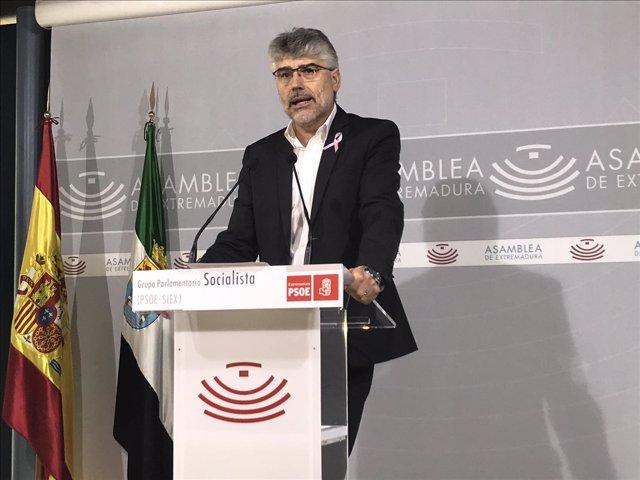 El portavoz del Grupo Parlamentario Socialista, Valentín García