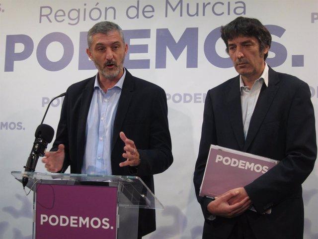 Óscar Urralburu y Rafael Esteban de Podemos