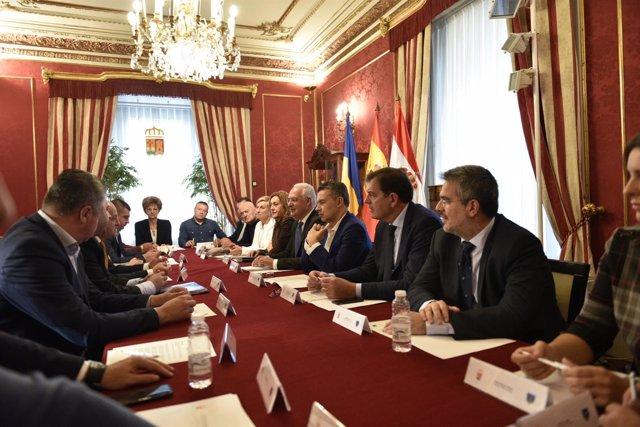 Reunión Delegación rumana