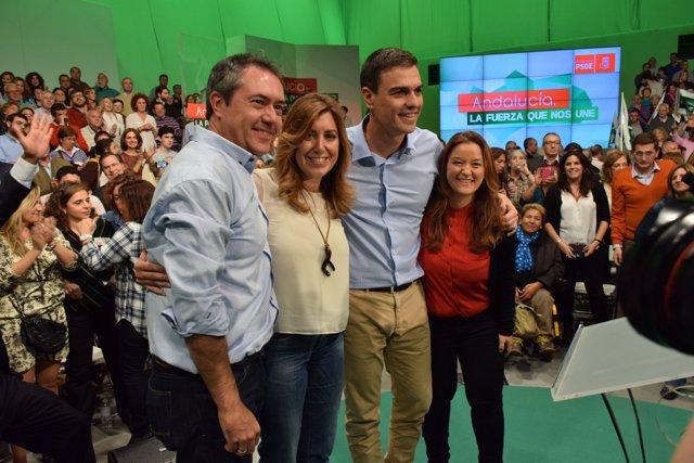 Susana Díaz y Pedro Sánchez en un mitin el pasado mes de noviembre