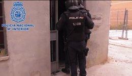 Un momento de la operación policial