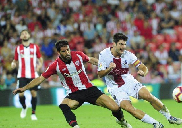 Athleticek Huescaren aurka San Mamesen jokatutako Ligako partida