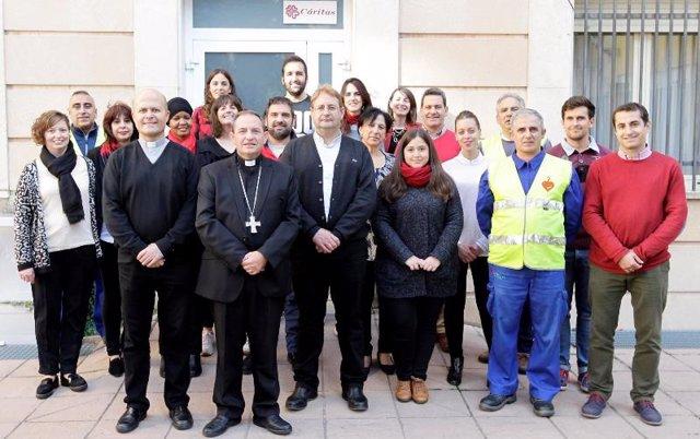 Equipo de Cáritas Diocesana de Osma-Soria.